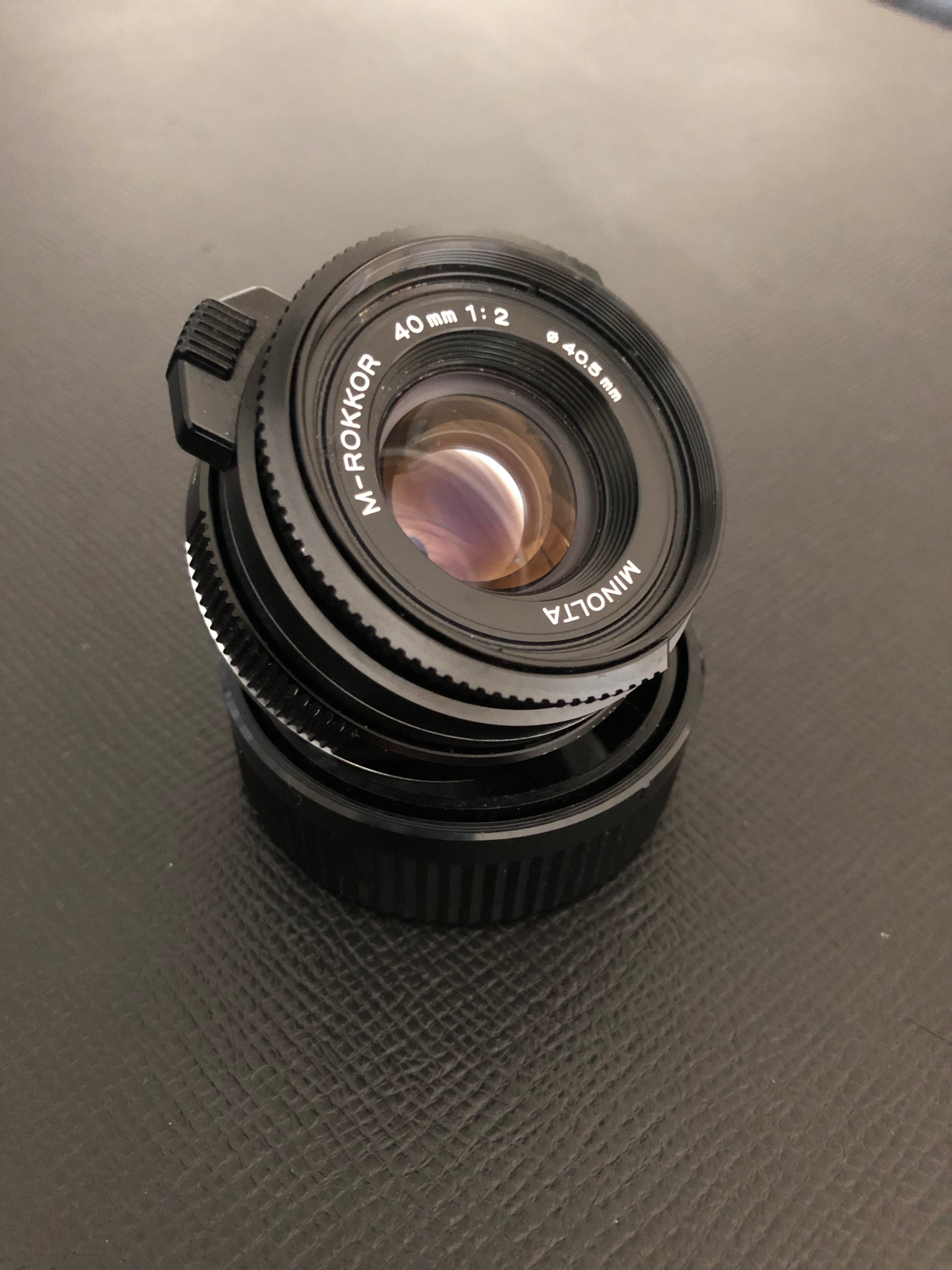 Objektiv Reparatur SMC Pentax 67 1:4//135 mm Macro verölte Blende